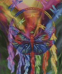 Dragonfly Dreams DIY 5D Diamond Painting Cross Stitch