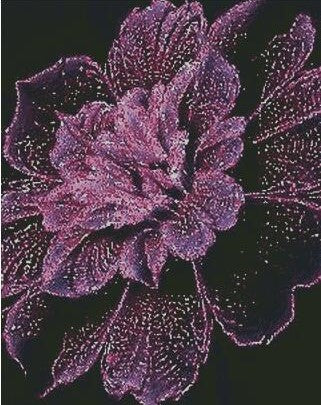 Sparkle Purple Flower DIY 5D Diamond Painting Cross Stitch