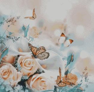 Butterflies & Roses DIY 5D Diamond Painting Cross Stitch