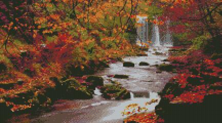 Autumn Falls #2 DIY 5D Diamond Painting Cross Stitch