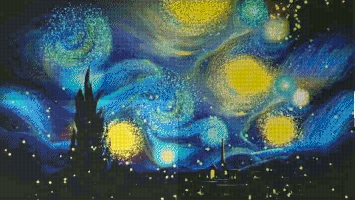 Starry Night #2 DIY 5D Diamond Painting Cross Stitch