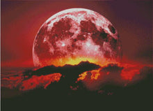 Blood Moon DIY Diamond Painting Cross Stitch