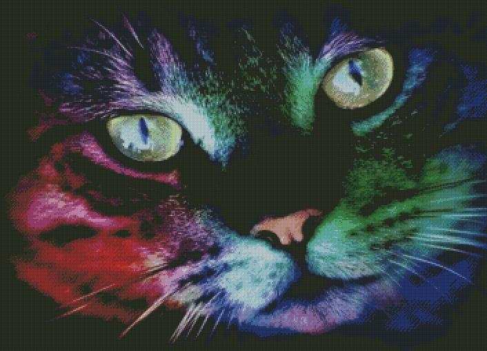 Rainbow Cat DIY 5D Diamond Painting Cross Stitch
