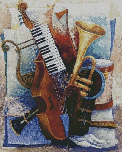 Instruments DIY 5D Diamond Painting Cross Stitch