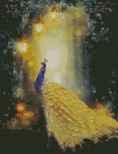 Golden Peacock #1 DIY 5D Diamond Painting Cross Stitch