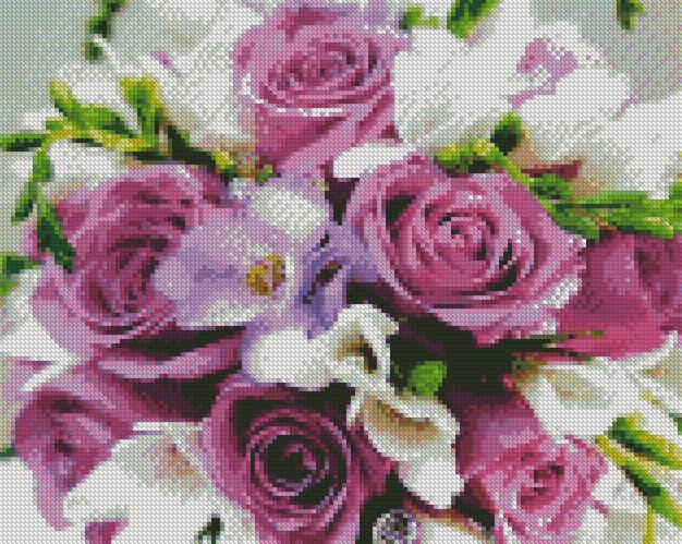 Purple Roses #2 DIY 5D Diamond Painting Cross Stitch