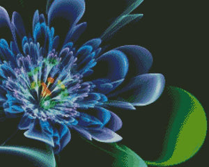 Electric Blue Flower DIY 5D Diamond Painting Cross Stitch