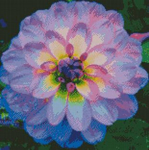 Light Purple Dahlia DIY 5D Diamond Painting Cross Stitch