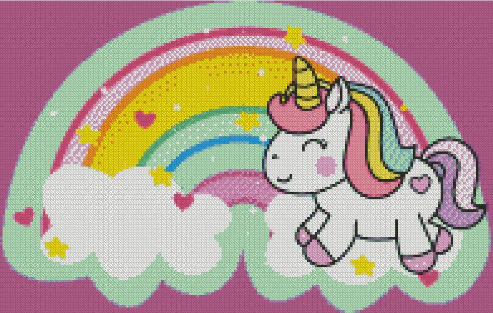 Happy Unicorn DIY 5D Diamond Painting Cross Stitch