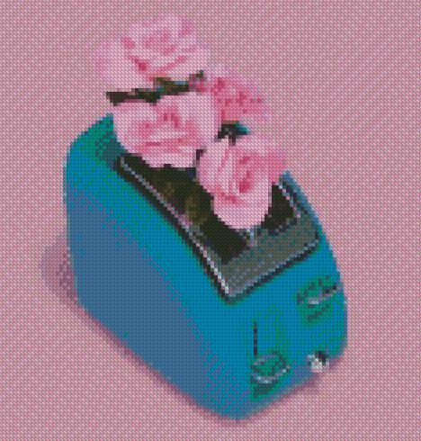 Roses in a Toaster DIY 5D Diamond Painting Cross Stitch