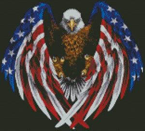 ** UPDATED ** Patriotic American Eagle DIY 5D Diamond Painting Cross Stitch