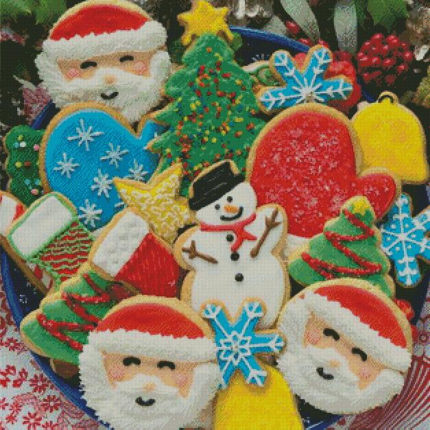 Christmas Cookies DIY 5D Diamond Painting Cross Stitch