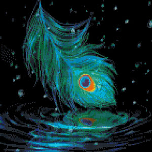 Dreaming Peacock Feather DIY 5D Diamond Painting Cross Stitch