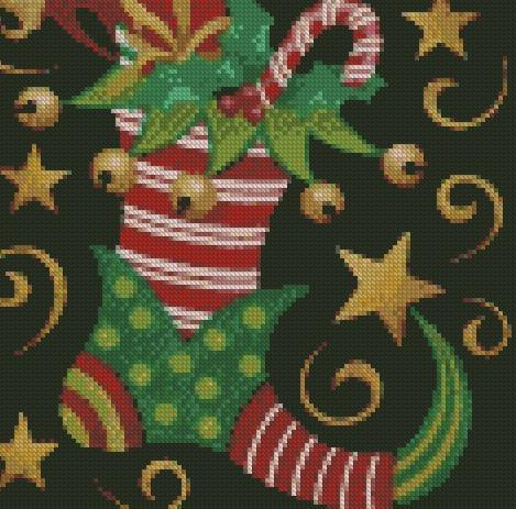 Elf Stocking DIY 5D Diamond Painting Cross Stitch