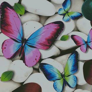 Butterflies & Stones DIY 5D Diamond Painting Cross Stitch