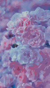 White & Pink Roses DIY 5D Diamond Painting Cross Stitch