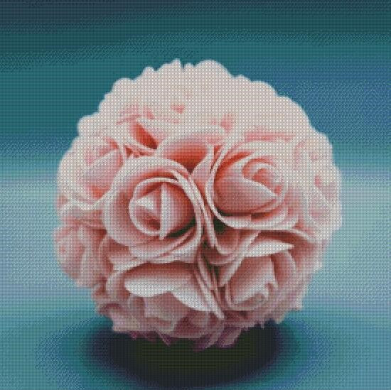 Ball of Pink Roses DIY 5D Diamond Painting Cross Stitch