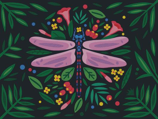 The Dragonfly DIY 5D Diamond Painting Cross Stitch