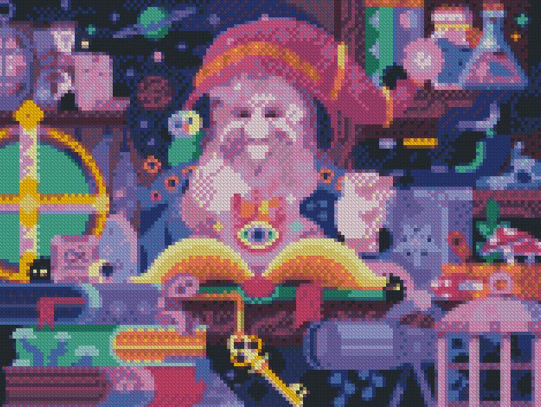 Wizard DIY 5D Diamond Painting Cross Stitch