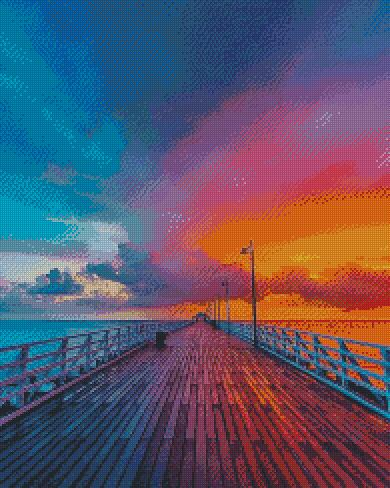 Sunset Pier DIY 5D Diamond Painting Cross Stitch