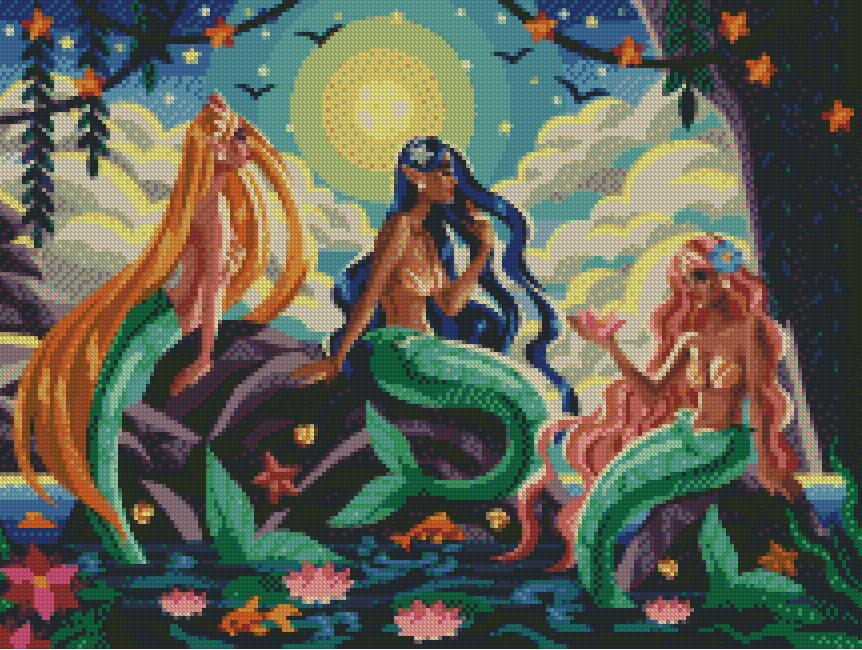 Sea Sirens DIY 5D Diamond Painting Cross Stitch