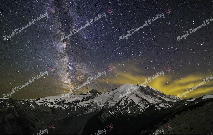 Mountain Night Sky DIY 5D Diamond Painting Cross Stitch