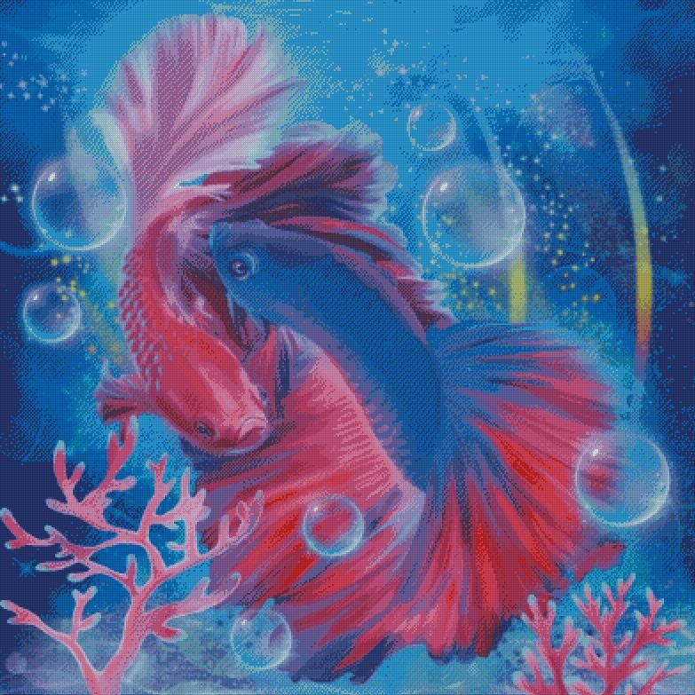 Bettas DIY 5D Diamond Painting Cross Stitch