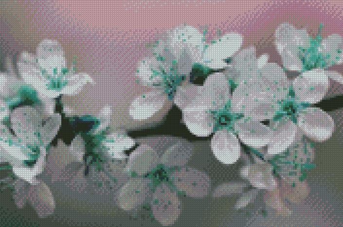 Hinted Blooms DIY 5D Diamond Painting Cross Stitch