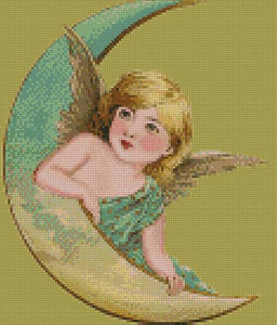 Angel on the Moon DIY 5D Diamond Painting Cross Stitch