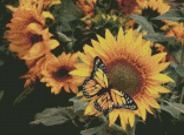 Sunflower and Friend DIY 5D Diamond Painting Cross Stitch