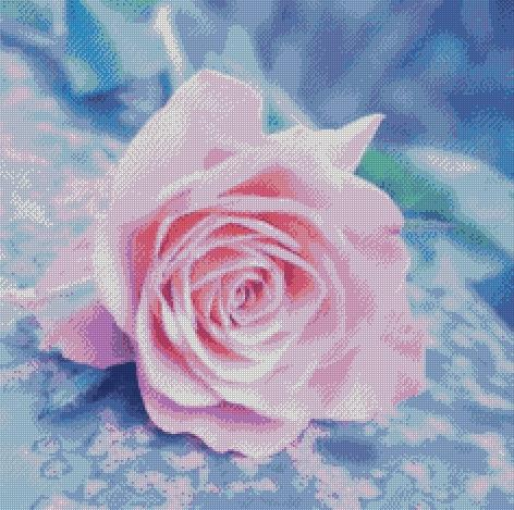 Close Up Pink Rose DIY 5D Diamond Painting Cross Stitch