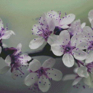 Hint of Purple Bloom DIY 5D Diamond Painting Cross Stitch