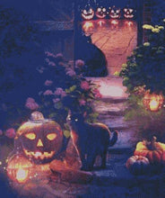 Halloween Cats DIY 5D Diamond Painting Cross Stitch