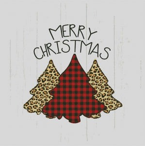 Plaid & Gold Merry Christmas DIY 5D Diamond Painting Cross Stitch