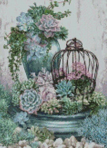 Succulents #1 DIY 5D Diamond Painting Cross Stitch