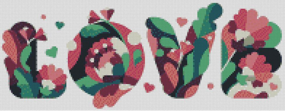 Love #3 DIY 5D Diamond Painting Cross Stitch