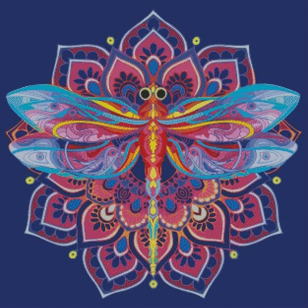 Mandala Dragonfly #3 DIY 5D Diamond Painting Cross Stitch