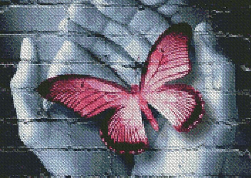 Caring Butterfly Star Burst 5D Diamond Painting Cross Stitch