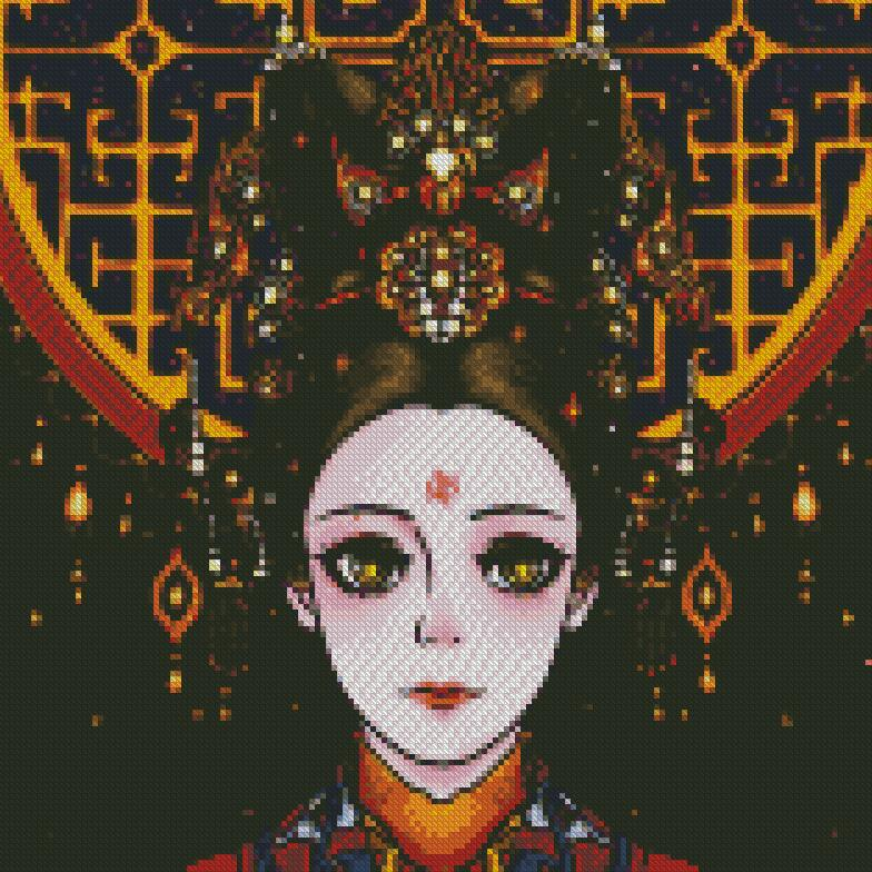 Geisha DIY 5D Diamond Painting Cross Stitch