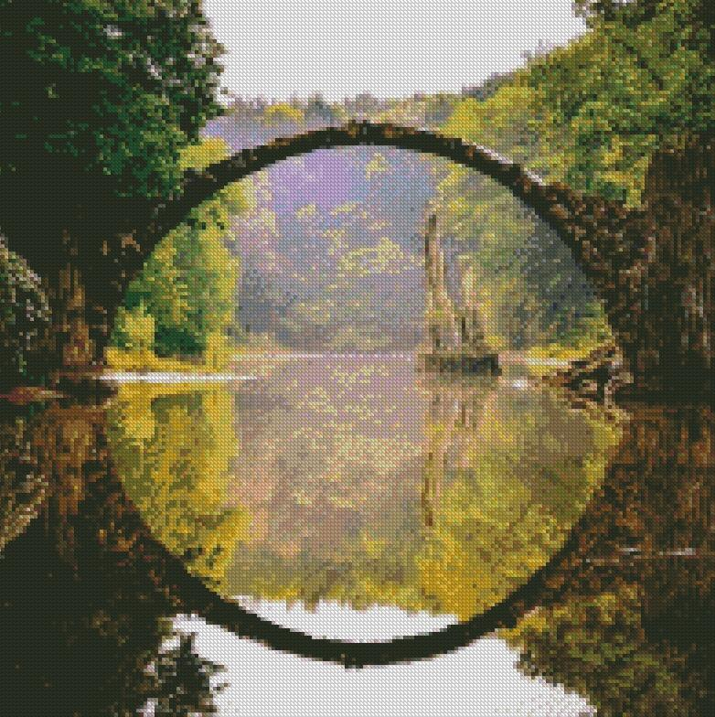 Devil's Bridge #5 DIY 5D Diamond Painting Cross Stitch