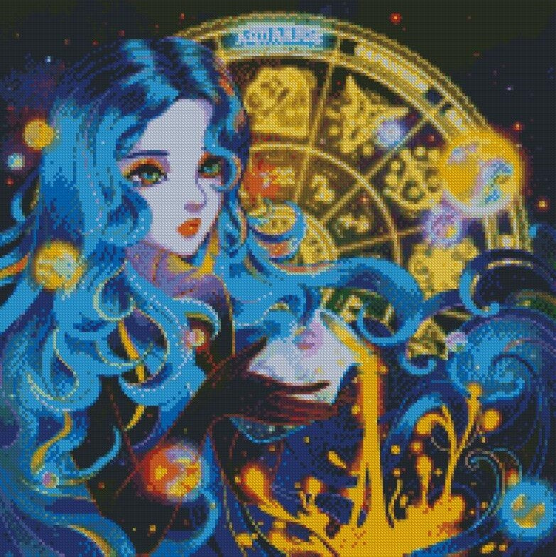 Zodiac - Aquarius to Leo DIY 5D Diamond Painting Cross Stitch