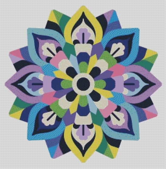 Pastel Mandala DIY 5D Diamond Painting Cross Stitch