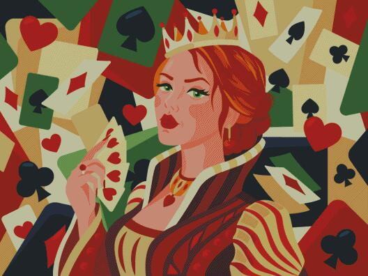 Queen of Hearts DIY 5D Diamond Painting Cross Stitch