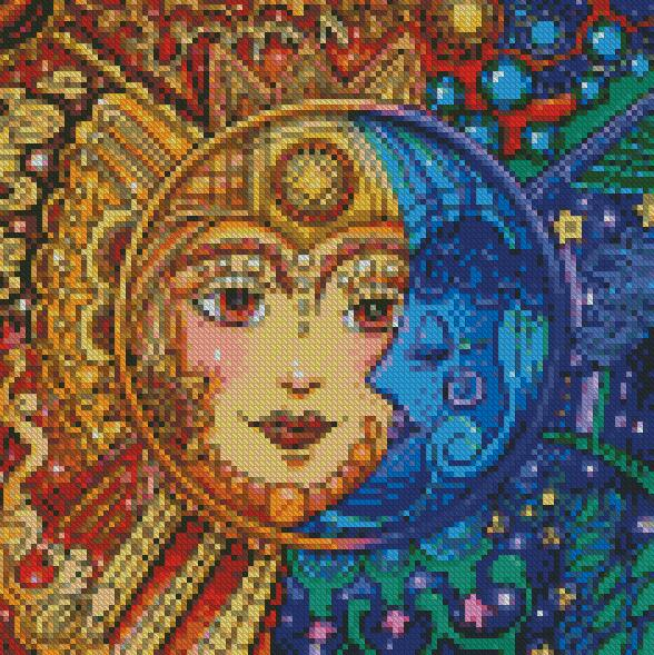 Day & Night #3 DIY 5D Diamond Painting Cross Stitch