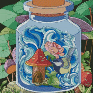 Toadstool in a Jar DIY 5D Diamond Painting Cross Stitch