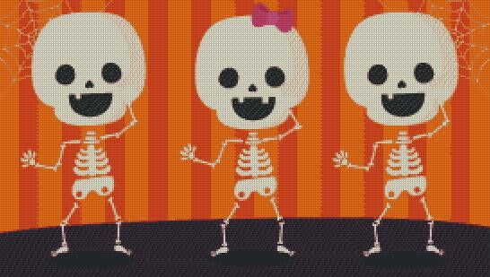Dancing Skeletons DIY 5D Diamond Painting Cross Stitch
