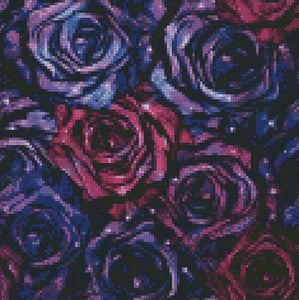 Purple Roses DIY 5D Diamond Painting Cross Stitch