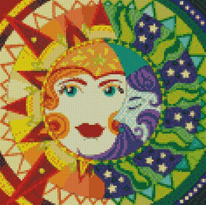 Day & Night #2 DIY 5D Diamond Painting Cross Stitch