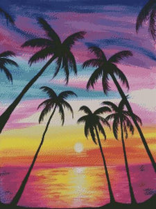 Beach Sunset DIY 5D Diamond Painting Cross Stitch