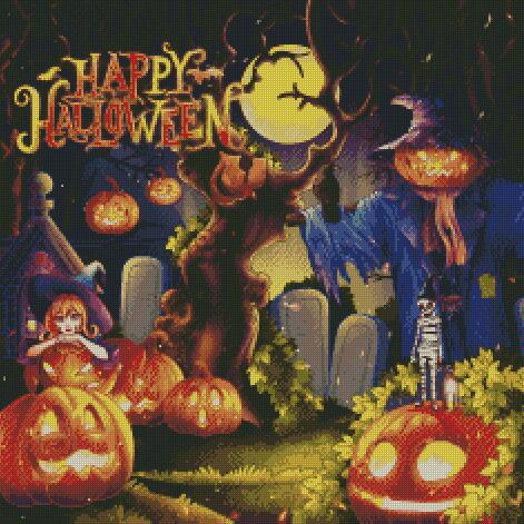 Happy Halloween #2 DIY 5D Diamond Painting Cross Stitch